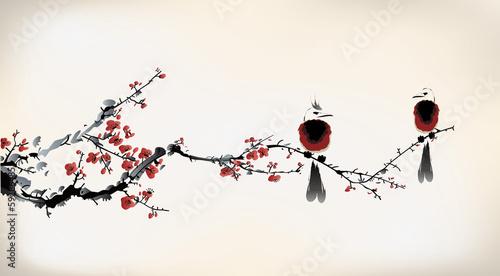 bird painting - 59286485