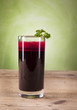 Beetroot juice,Healthy drink with nature background