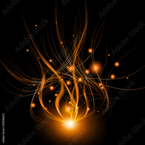 Abstract background light lines, futuristic wave.