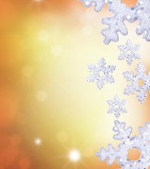 snowflake on abstract background