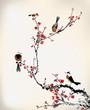 Постер, плакат: birds painting