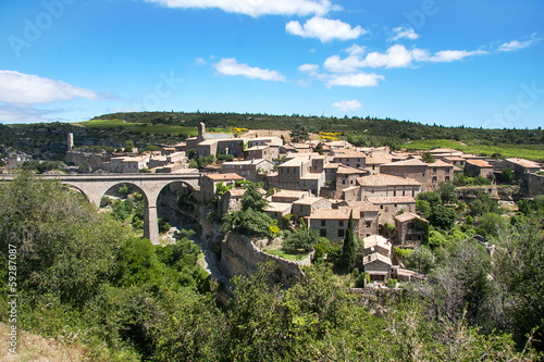 Minerve ancient wine and tourist village in southern France