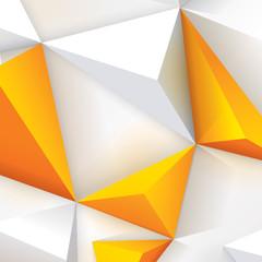Yellow and white geometric background. © tarapong