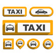 Taxi Icons and Buttons