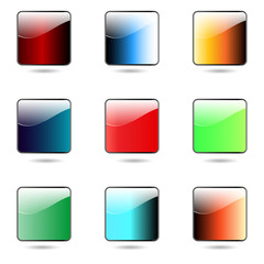 Colored app buttons set.