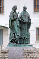 Monument of Saints Cyril and Methodius in Dmitrov, Russia