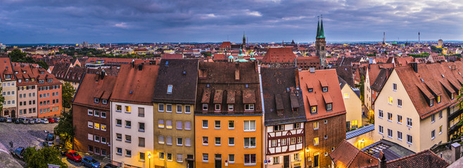 Nuremberg, Germany Old City Panorama
