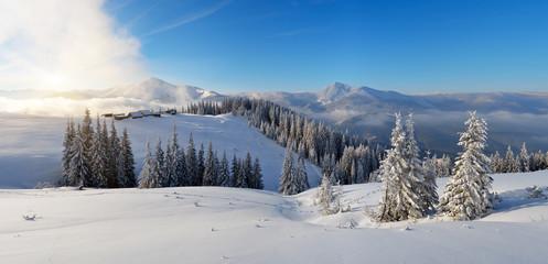 Morning mountain panorama