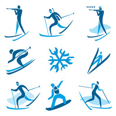 Winter sport symbols