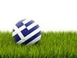 Obrazy na płótnie, fototapety, zdjęcia, fotoobrazy drukowane : Football with flag of greece