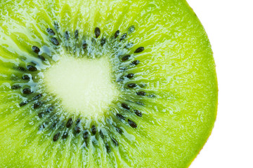 Half of fresh kiwi fruit