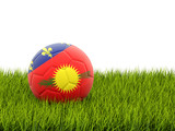 Football with flag of guadeloupe