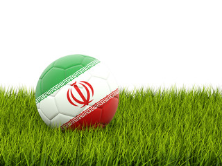 Football with flag of iran