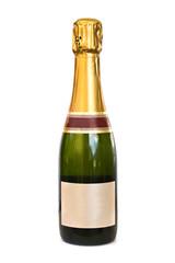 Bouteille de Champagne, fond blanc