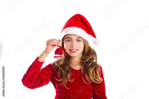 Christmas red bell cookie and Xmas dress kid girl