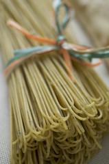 Italian pasta with basil and garlic