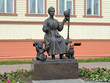 Постер, плакат: Monument of Russian wives keepers of hearth in Arkhangelsk