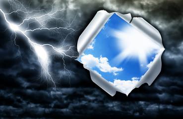 Cielo sereno dietro la tempesta