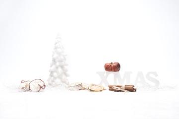 christmas tanne apfel zitrone kuerbis
