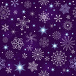 Seamless violet christmas pattern