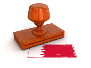 Rubber Stamp Bahrain flag (clipping path included)