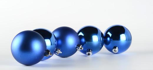 Bolas decorativas de navidad de color azul