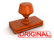 Rubber Stamp Original (clipping path included)