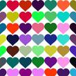 векторный фон разноцветные сердца