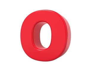Red 3D Letter O.