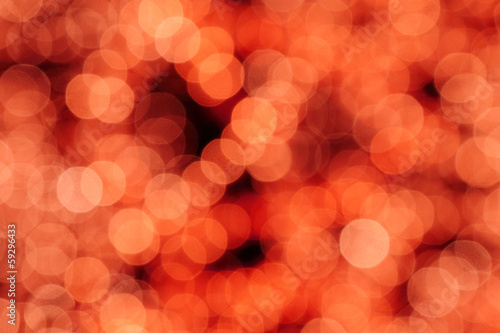 abstract christmas red lights bokeh background