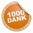 3D Aufkleber Orange - 1000 Dank