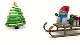 Snowman, Christmas Tree and Gift - 3D
