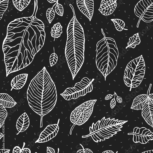 Leaves.  Seamless background