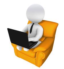 Arbeiten oder Surfen auf dem Sessel
