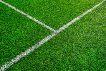 Artificial football field detail