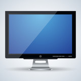 3d monitor vector illustration