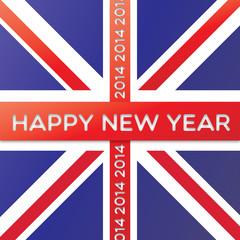 union jack happy new year 2014