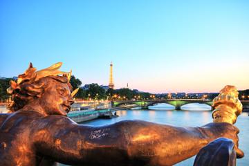 Eiffel Tower from Pont Alexandre III, Paris