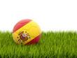 Obrazy na płótnie, fototapety, zdjęcia, fotoobrazy drukowane : Football with flag of spain