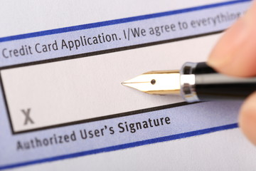 Authorized user's signature