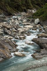 Rocky river at the Taroko National Park in Taiwan