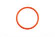 Постер, плакат: Оранжевое кольцо на белом фоне