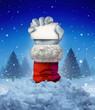 Santa Claus Winter Sign