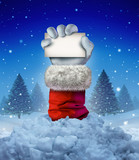 Santa Claus Winter Sign