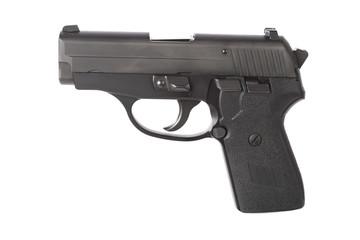 Left side of a hand gun