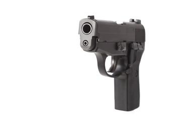 40 caliber pistol at an angle