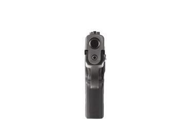 Front view of a handgun