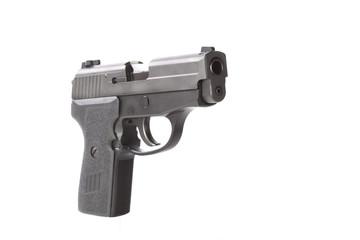Angle view of a 40 caliber pistol