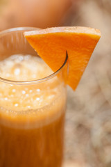 Pumpkin juice in a glass