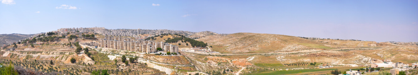Panorama from Shepherd's Field Bethlehem